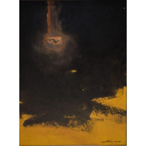"""FALLING, FALLing, falling"", oil on canvas, 24""x30"""
