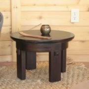meditation side table espresso color