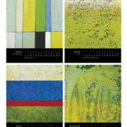 encaustic-calendar, may to august