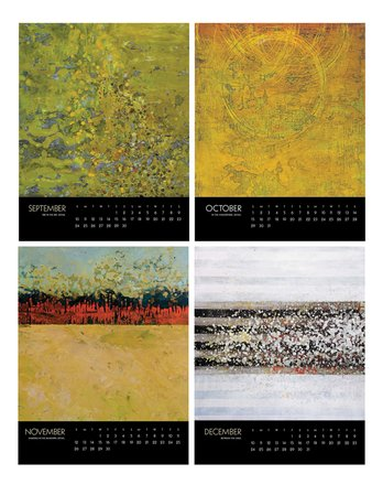 encaustic-calendar, september to december