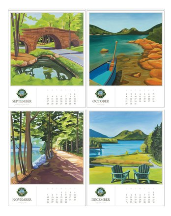30172 | Acadia Commemorative Desk Calendar 2017, september to december
