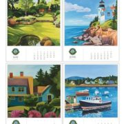 30172 | Acadia Commemorative Desk Calendar 2017, may to august