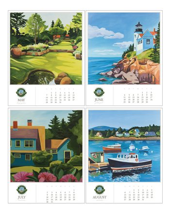 30172 | Acadia Commemorative Desk Calendar 2017