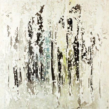 """Annie Darling Encaustic Print """"boys in the woods"""""""
