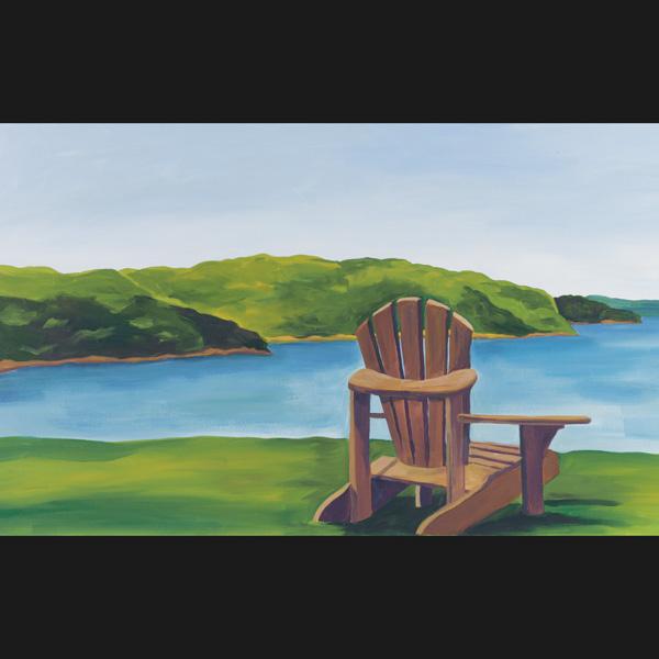 Breer Adirondack Chair Art Print 11x17