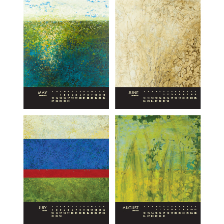 encaustic calendar 2018 may to august
