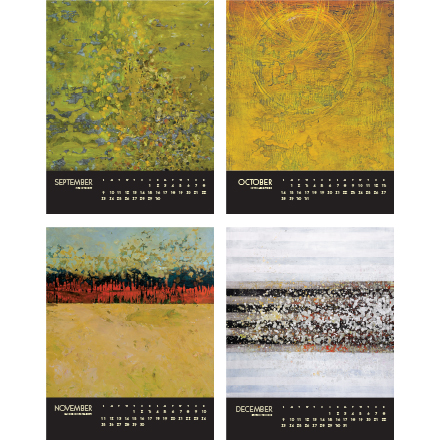 encaustic calendar 2018 september to december