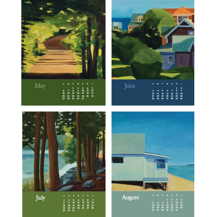 Catherine Breer Scenic Calender 2018 may to august