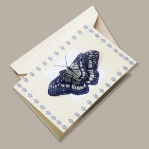 Handcrafted 3D Butterfly Notecard, Fair-Trade from Bangladesh