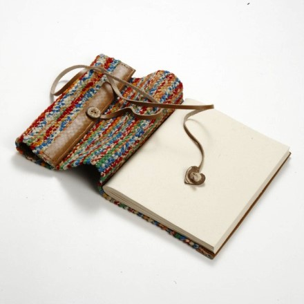 Woven Sari Travel Journal, Fair-Trade from Bangladesh