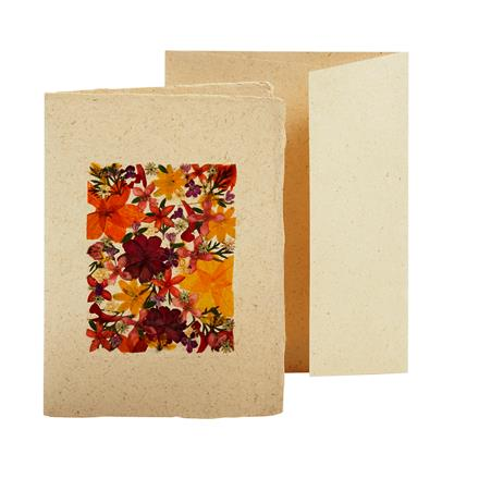 Flower Garden Handcrafted Notecard, Fair-Trade from the Philippines