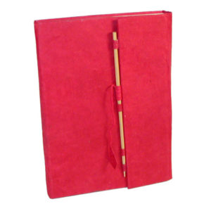 Lokta Paper Hardcover Journal, Stick Closure, Medium