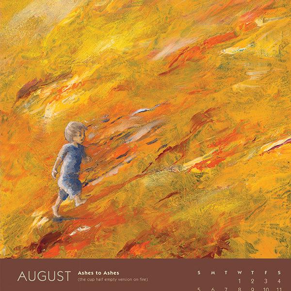 myIntrospection poster calendar 2018 august