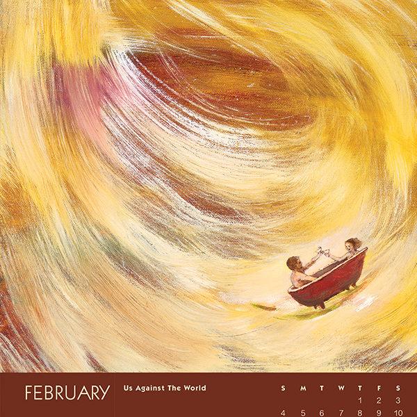 myIntrospection poster calendar 2018 february