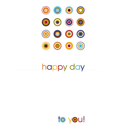 happy day to you all occasion card blank inside
