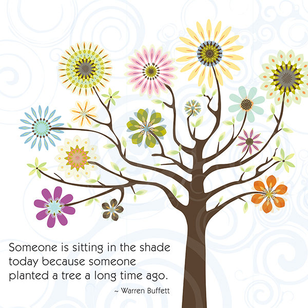 Little Moments Someone Planted A Tree Art Print