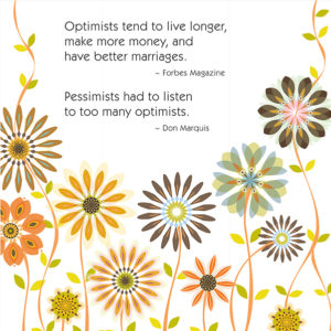 Little Moments Optimists & Pessimists Art Print