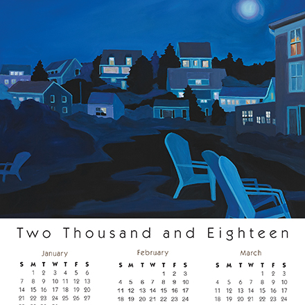 Calendar Card Mohegan Nightfall for Real Estate Agent