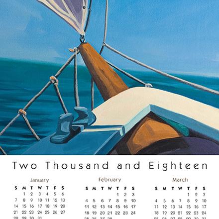 Calendar Card Schooner for Real Estate Agent