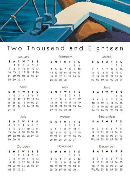 Calendar Card Schooner Full Image