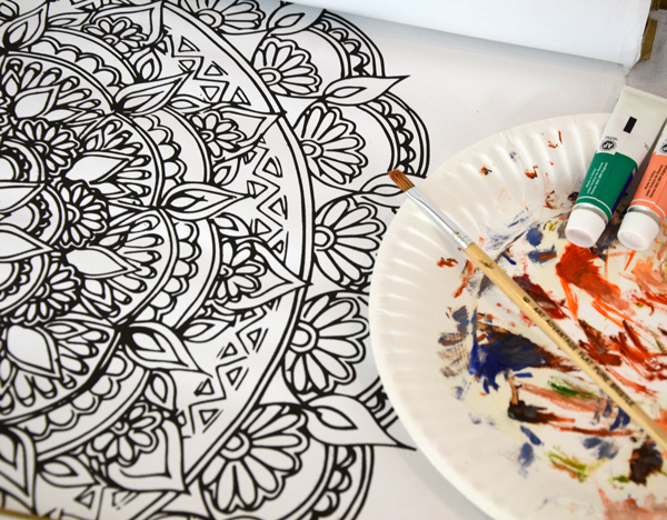Coloring Mandala Wall Art
