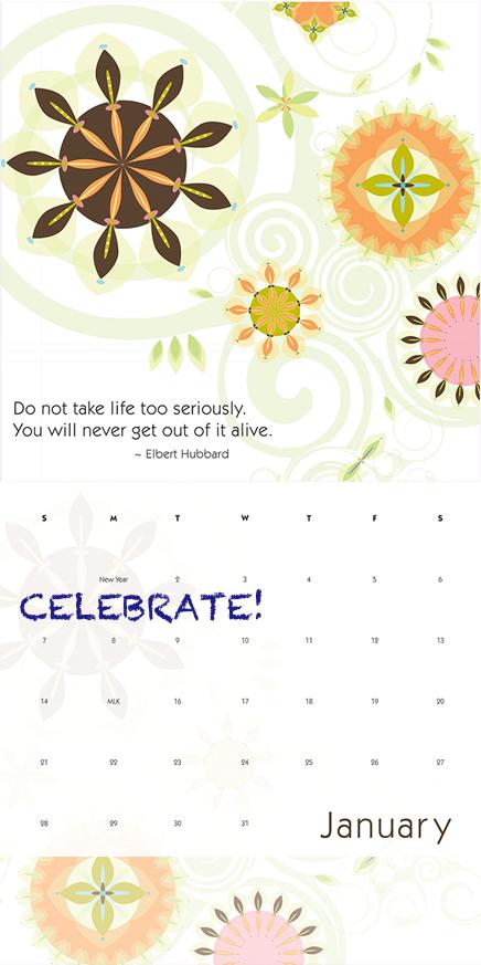 SD Design Wall Calendar