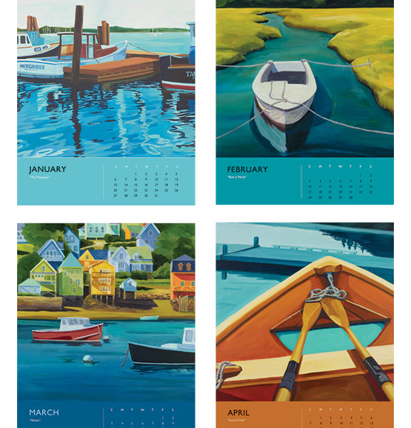 Catherine Breer The Love Of Boats Calendar 2019 Jan-Apr