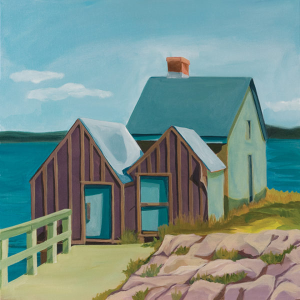 Catherine Breer Shacks at Willard Beach Art Print