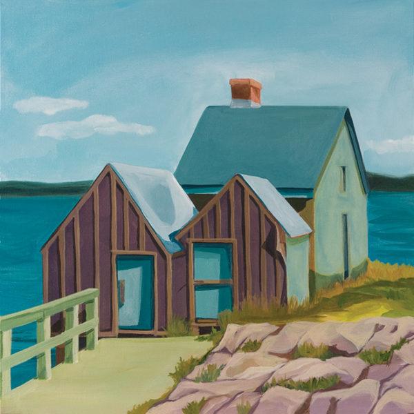 Catherine Breer Shacks at Willard Beach Art Print
