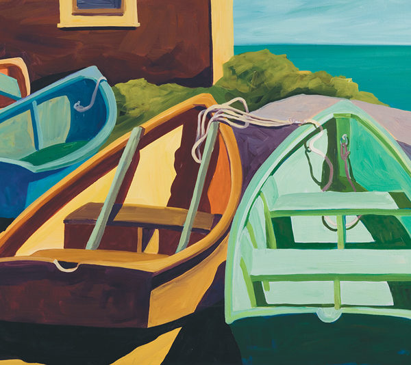 Catherine Breer Beached Boats Art Print - Rectangle