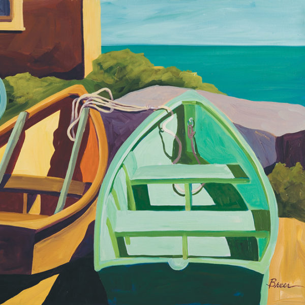 Catherine Breer Beached Boats Art Print - Square