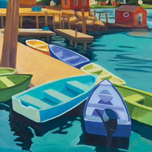 Catherine Breer Vinalhaven Docks Art Print