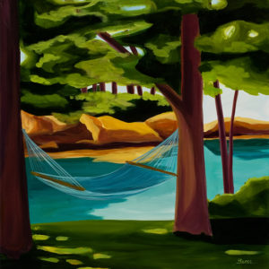 Catherine Breer Hammock on Bustins Art Print