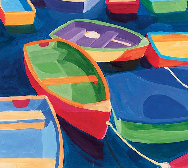 Catherine Breer Dinghies Art Print - Rectangle