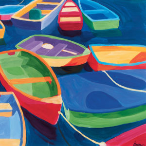 Catherine Breer Dinghies Art Print - Square