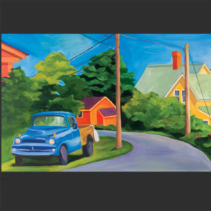 Catherine Breer Old Dodge on Peaks Island Art Print