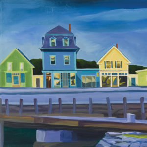 Catherine Breer Vinalhaven Twilight Art Print - Square