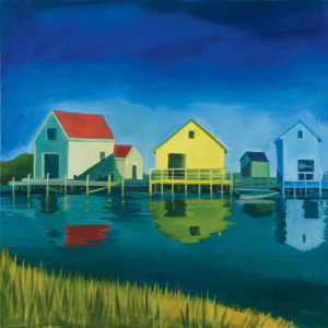 Catherine Breer Kennebunkport Shacks Art Print