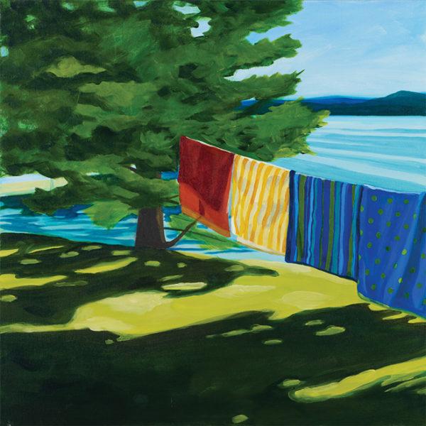 Catherine Breer Towels on the Line Art Print