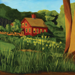 Catherine Breer Red House on Pine Street Art Print