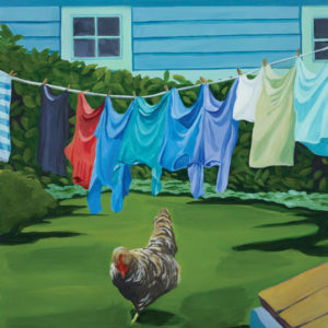 Catherine Breer Rooster Art Print