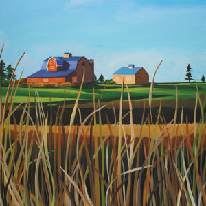 Catherine Breer Barn on Stony Lake Art Print