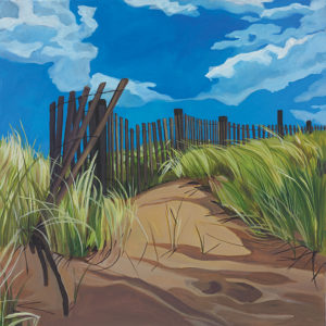 Catherine Breer Beach Fence Art Print