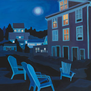 Catherine Breer Nightfall on Monhegan Art Print - Square