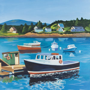 Catherine Breer Bass Harbor Art Print