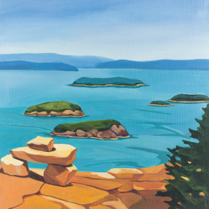 Catherine Breer View From Cadillac Mountain Art Print