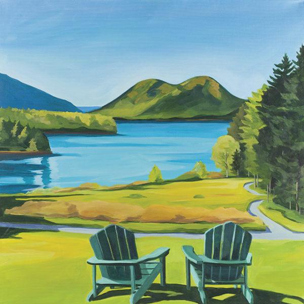 Catherine Breer Jordan Pond Art Print