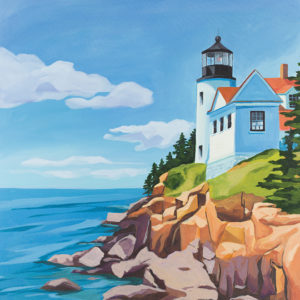 Catherine Breer Acadia Bass Harbor Light Art Print