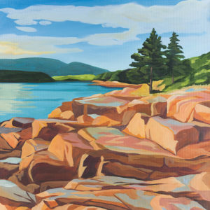 Catherine Breer Acadia Otter Cliffs Art Print