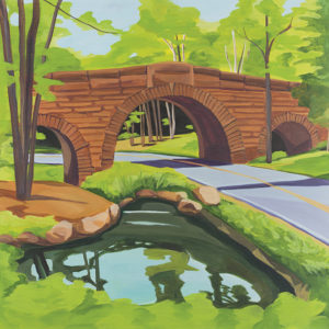 Catherine Breer Stone Bridge Art Print